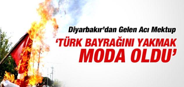 """""""DİYARBAKIR'DA TÜRK BAYRAĞI YAKMAK MODA OLDU""""...!"""