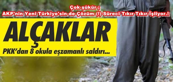 PKK DİYARBAKIR'DA 8 OKULA SALDIRDI...!