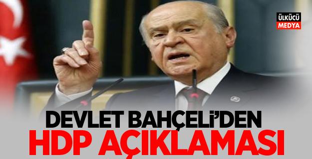 Devlet Bahçeli'den HDP açıklaması