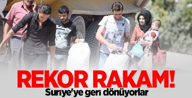 Rekor rakam! Suriye'ye geri dönüyorlar