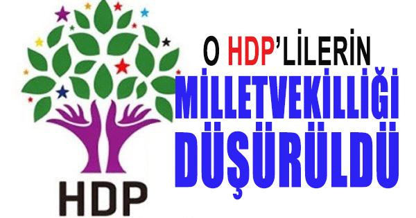 HDP'li 2 Milletvekilinin Milletvekillikleri Düşürüldü