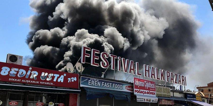 Antalya'da dehşet anları! Büyük yangın