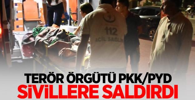 Terör örgütü PKK/PYD sivillere saldırdı