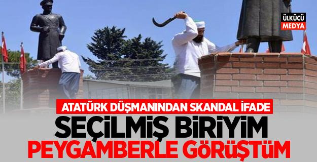 Atatürk heykeline saldıran şahıstan skandal ifade