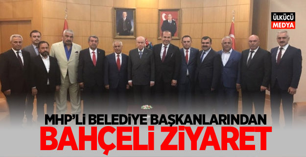 MHP Belediye Başkanlarından Bahçeli'ye Ziyaret