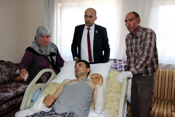 İzine Gelirken Bombalı Saldırıda Yaralanan Uzman Çavuş, Baba Ocağında