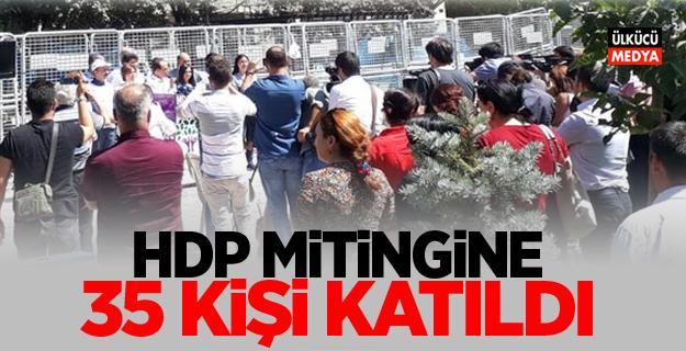 HDP mitingine 35 kişi katıldı