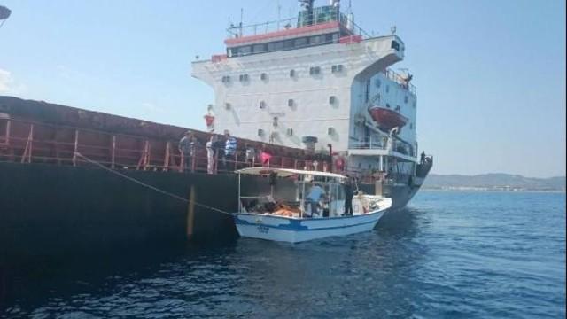 İskenderun Körfezi'nde Kuru Yük Gemisinde Batma Tehlikesi