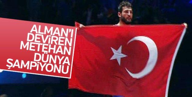 Milli güreşçi Metehan Başar dünya şampiyonu...