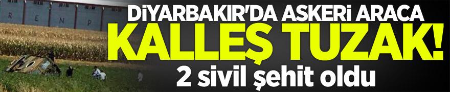 Diyarbakır'da askeri aracın geçişi sırasında patlama! 2 şehit