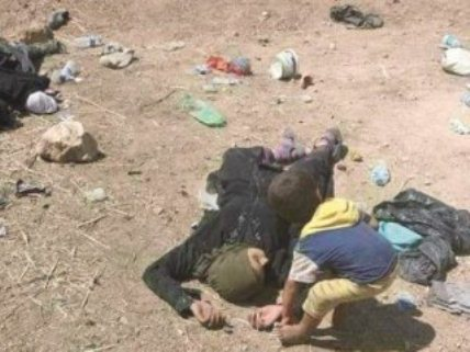 Türkmen kenti Tel Afer'de Siviller öldürülüyor.