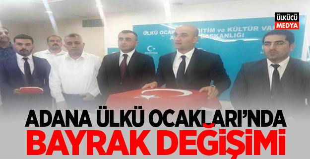 Adana Ülkü Ocakları'nda Bayrak Değişimi