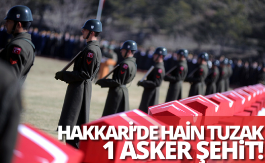Hakkari'de askeri araca tuzak: 1 şehit...