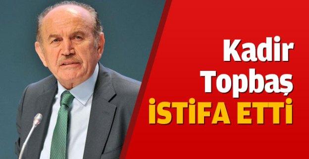 İstanbul Büyükşehir Belediye Başkanı Kadir Topbaş istifa etti...