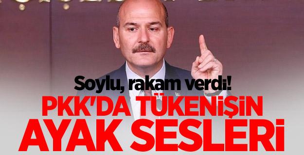 Süleyman Soylu, rakam verdi! PKK'da tükenişin ayak sesleri