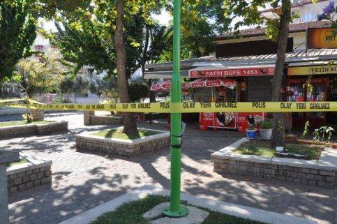 Ölümlü kavganın yaşandığı parka pompalı tüfekli ateş açıldı.