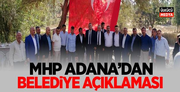 MHP Adana'dan Belediye Açıklaması