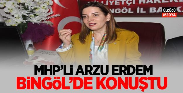 MHP'li Arzu Erdem: Bingöl'de konuştu