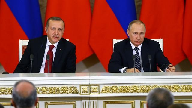 Erdoğan Putin ile ortak açıklama yaptı