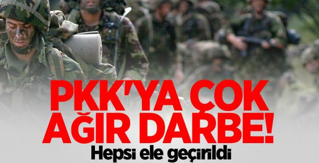PKK'ya çok ağır darbe! Hepsi ele geçirildi