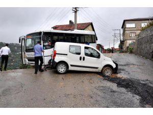Zonguldak'ta Yağmur Etkili Oldu (2)