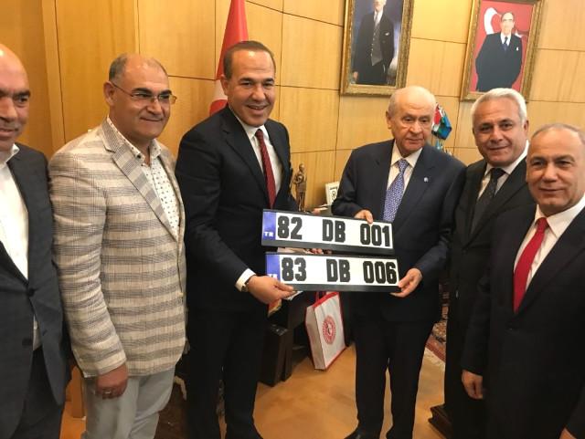 Başkan Sözlü'den Bahçeli'ye Kerkük ve Musul Plakaları