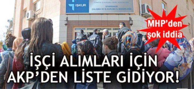 """MHP Mersin Milletvekili Baki Şimşek, , AKP il başkanlıklarından """"özel listeler"""" gönderiliyor..."""