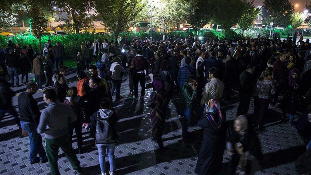 Ankara Büyükşehir Belediyesi önünde eylem