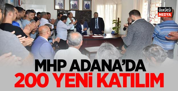 MHP Adana'da  200 yeni katılım