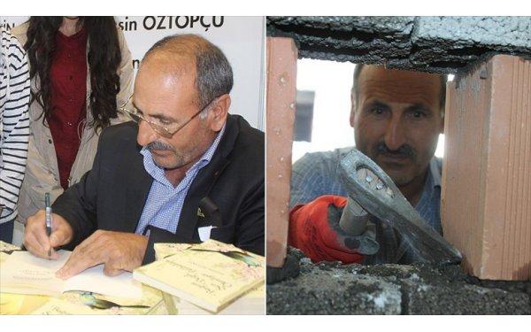 İnşaat İşçi Şair, Fuarda Kitaplarını İmzaladı