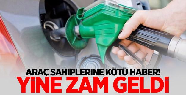Benzin ve motorinden sonra bir zam daha