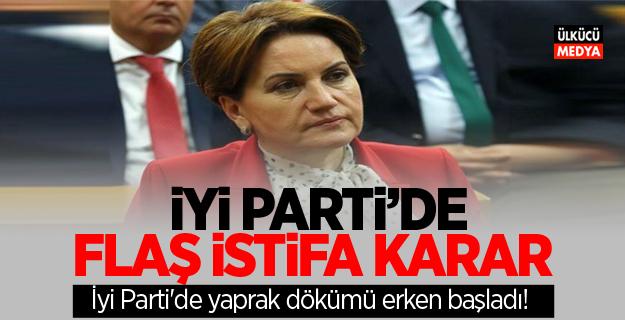 İYİ Parti'de Flaş istifa kararı
