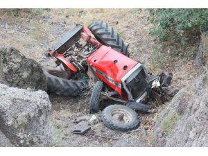 Traktör 50 Metrelik Uçuruma Yuvarlandı: 1 Yaralı