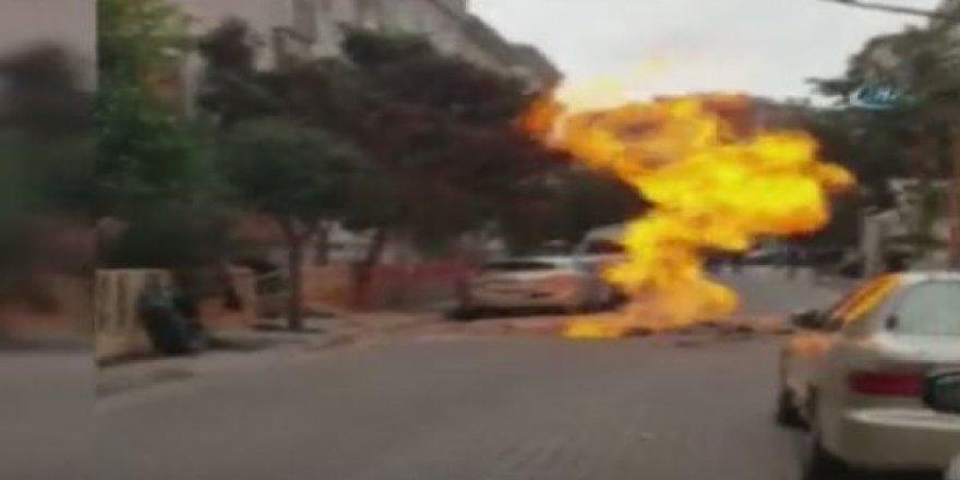 Avcılar'da doğalgaz borusu patladı!