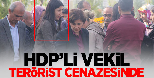HDP Şırnak Milletvekili Birlik, PKK'lı teröristin cenazesine katıldı
