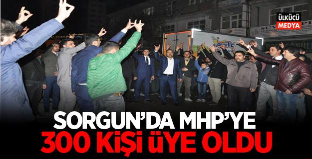 Sorgun'da MHP'ye 300 kişi üye oldu