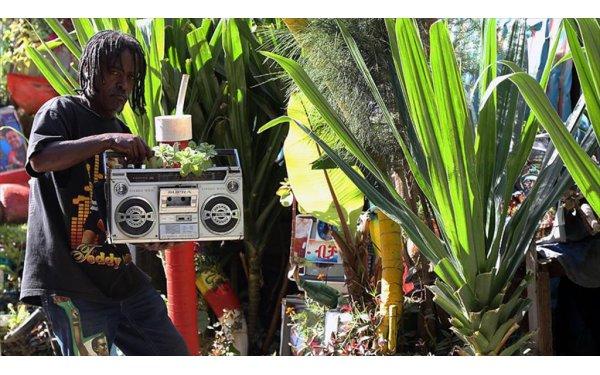 Etiyopyalı Zewde Topladığı Atıklarla Evini Çiçek Bahçesine Çevirdi
