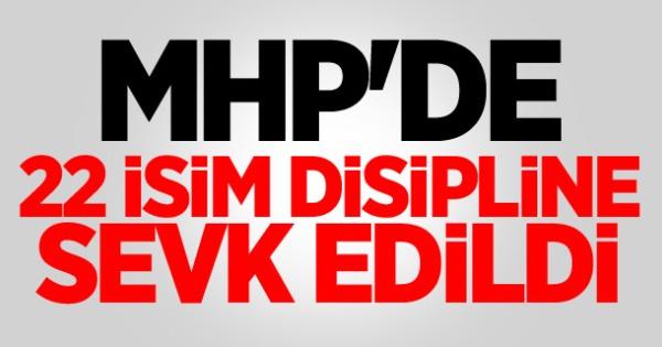 MHP'de 22 Kişi Disiplin Kuruluna Sevk edildi