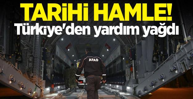 Türkiye, Irak depremzedelerine sahip çıktı.