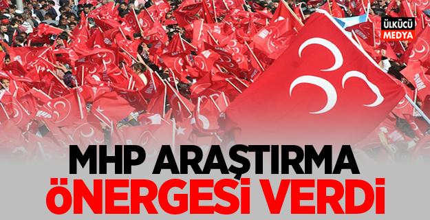 MHP ARAŞTIRMA ÖNERGESİ VERDİ