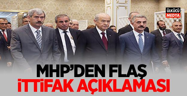 MHP'den flaş ittifak açıklaması