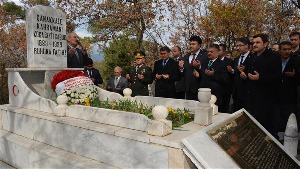 Çanakkale Savaşları kahramanı Seyit Onbaşı kabri başında anıldı