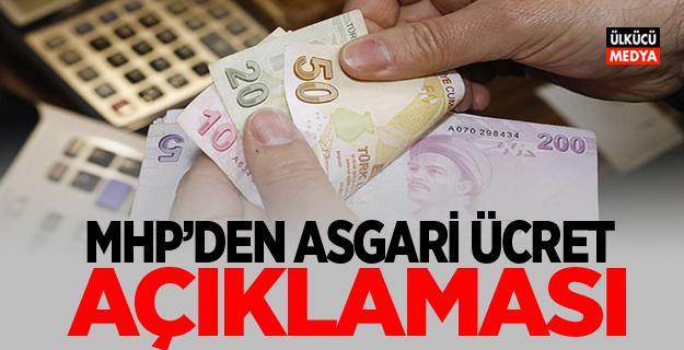 MHP'den 2018 Asgari Ücret Açıklaması..