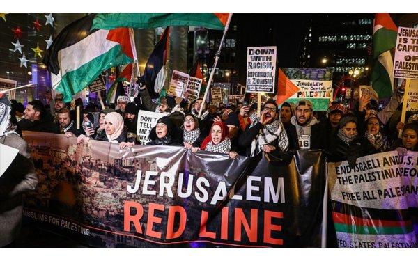 ABD'nin Kudüs Kararı Chicago'da Protesto Edildi