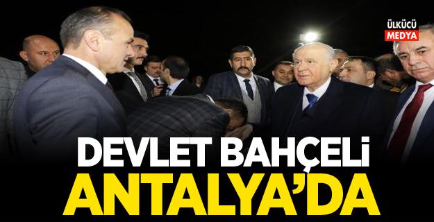 MHP Lideri Devlet Bahçeli, Antalya'da