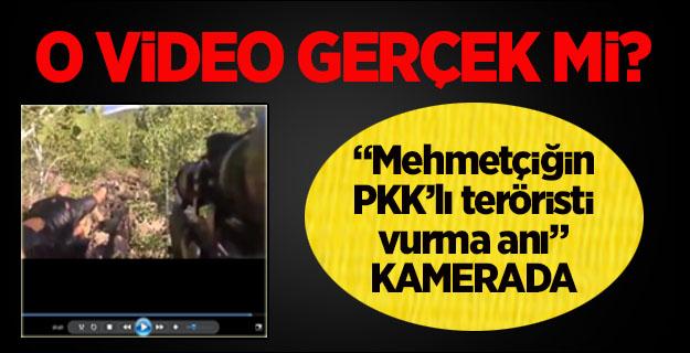 Mehmetçiğin PKK'lı teröristi vurma anı karemada