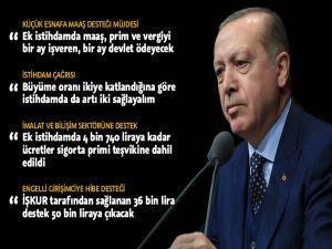 Cumhurbaşkanı Erdoğan'dan Artı 2 İstihdam Çağrısı