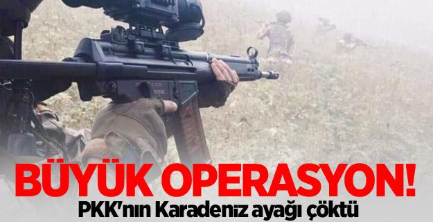 Büyük operasyon! PKK'nın Karadeniz ayağı çöktü