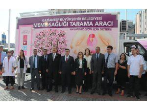Gaziantep'te Mobil Kanser Tarama Hizmeti Başladı