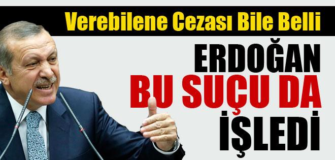 ERDOĞAN SUÇ İŞLEDİ İŞTE CEZASI !